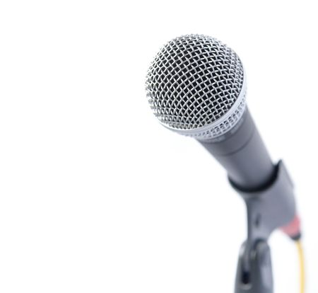 Professional Microphone Isolated Over White (With Area For Text) Stock Photo