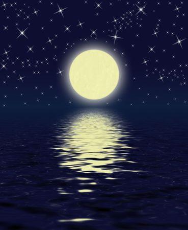 Magic Night: Moon, Stars, Water