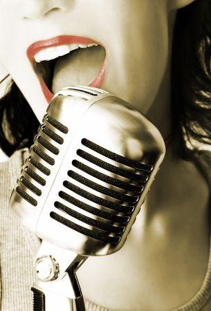 Retro Singer Stock Photo - 633319
