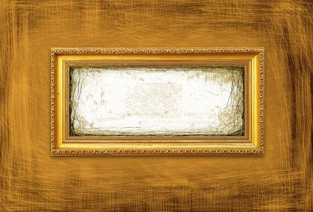 Golden Frame On A Grunge Background