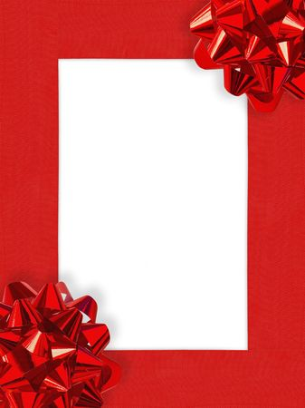 Ribbons&amp,Bows Christmas Frame  photo