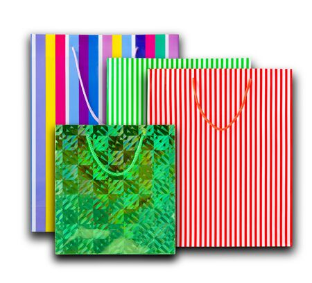 Shopping Bags (with clipping path for easy background removing if needed) photo