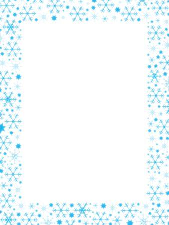 つらら: 雪ボーダー (ビジネス挨拶レターに最適)