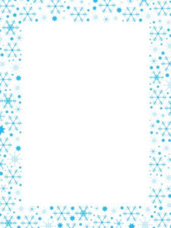 sopel lodu: Snowflakes Granicznej (Ideal for Business Letters Greeting)
