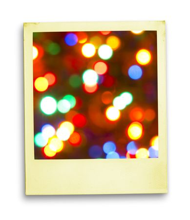 Happy Days Returns: Christmas (Magic Lights On Aged (with clipping path for easy background removing if needed)) photo