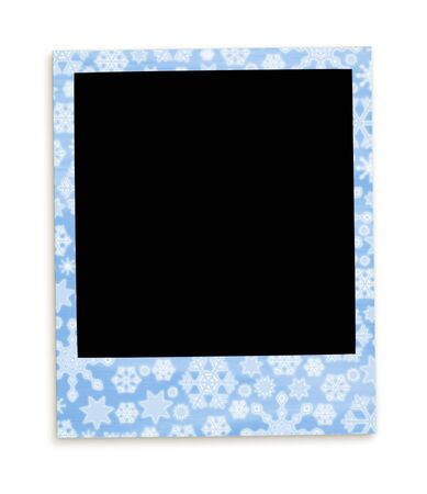 Christmas Memory Photo: Snowflakes Background (with clipping paths for easy framing your picture and background removing if needed) photo