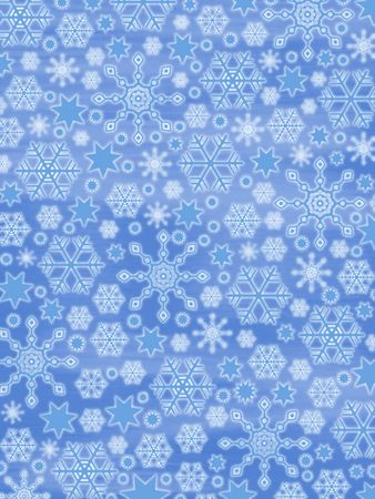 casing: Winter Background: Glowing Snowflakes Stock Photo