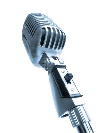 shure: Retro Mic Stock Photo
