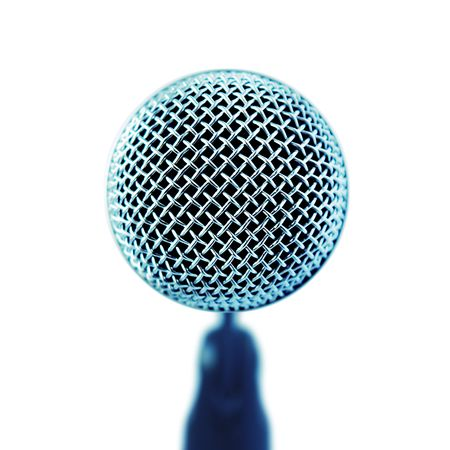 shure: Professional Microphone. Front View (with clipping path for easy background removing if needed)