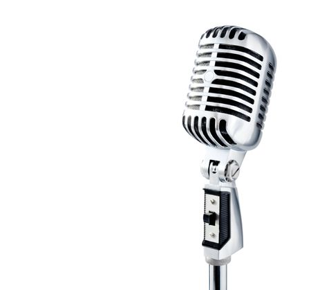 Retro Microphone (with clipping path for easy background removing if needed) Stock Photo
