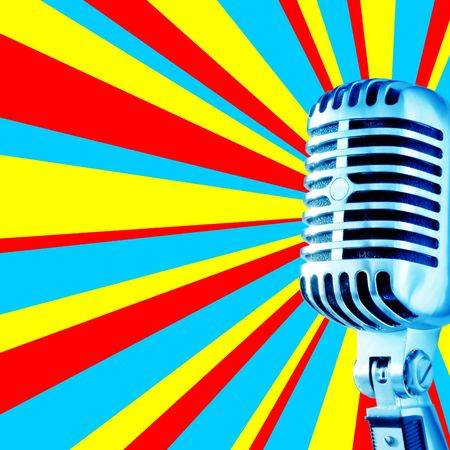 Disco Mic-3 (Retro Microphone Against Disco Background With Area For Text (Ideal for CD-cover)) photo