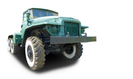 turnpike: Big Truck (with clipping path for easy background removing if needed) Stock Photo