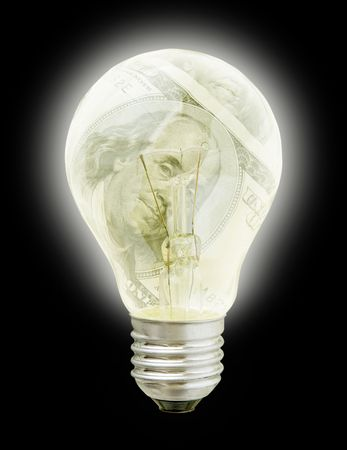 needed: Business Idea-2 (Light Bulb With Dollars Image In It (with clipping path for easy background removing if needed))