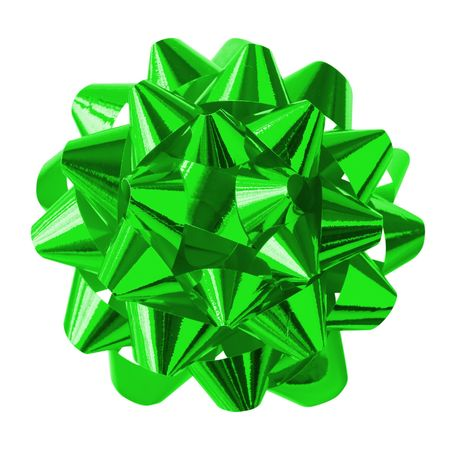 Green Bow (with clipping path for easy background removing if needed) photo
