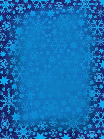 Grungy Snowflakes Border (Christmas Background) photo