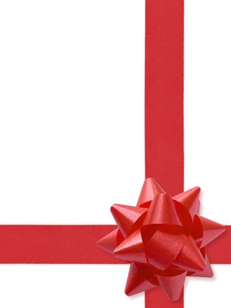 needed: Festive Ribbon (with clipping path for easy background removing if needed) Stock Photo