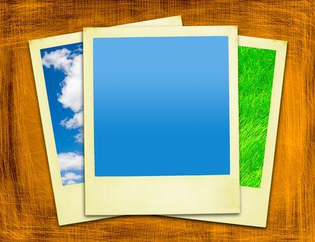 Vacation Polaroids On Grunge Background Stock Photo - 647478