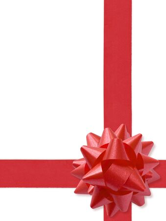 Festive Ribbon Isolated On White (with clipping path for easy background removing if needed) Stock Photo - 661745