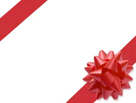 Festive Ribbon (+clipping path for easy background removing if needed) photo