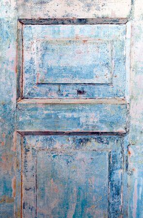Blue Grunge Door photo