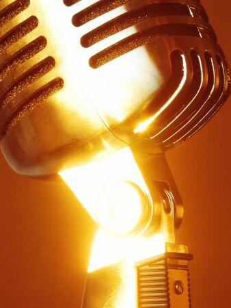 Shiny Sunny Retro Elvis Microphone