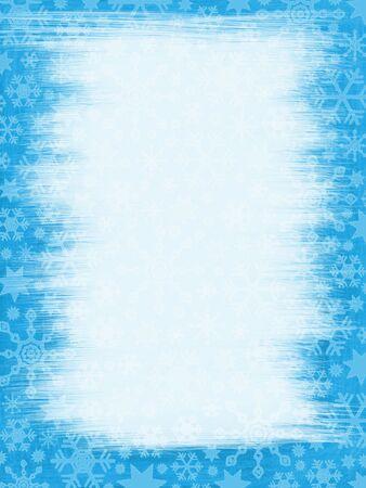 Grungy Snowflakes Border: Frozen Wiped Window photo