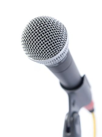 shure: Professional Microphone Isolated Over White Background