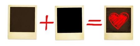 freehand tradition: Love Mathematics - Just Paste Your Photos ( clipping path for easy background removing if needed)