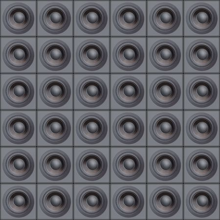 vibrations: Loud Speakers (Design Element) Stock Photo