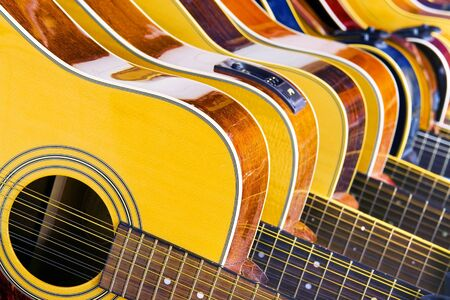 Lot Of Music (10 Different Acoustic Guitars In A Row)