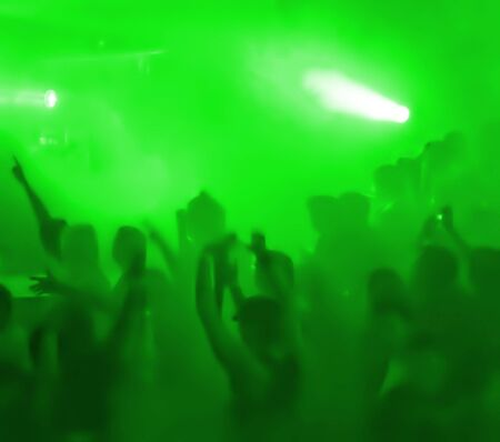 show time: Show Time! (Dancing People In A Smoke At Concert  Disco Party)