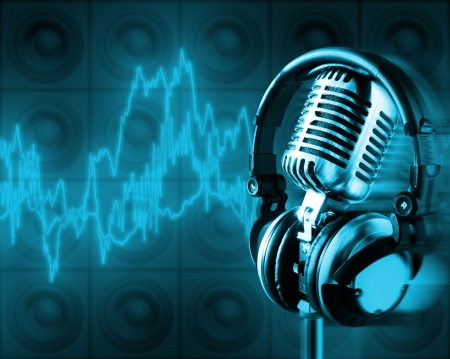 Music Energy (+clipping path for easy placing your text behind the object if needed) Stock Photo - 771202
