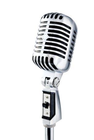 shure: Retro Microphone Stock Photo