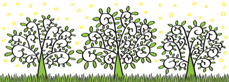 Spring Trees (Smelling Good) Vector