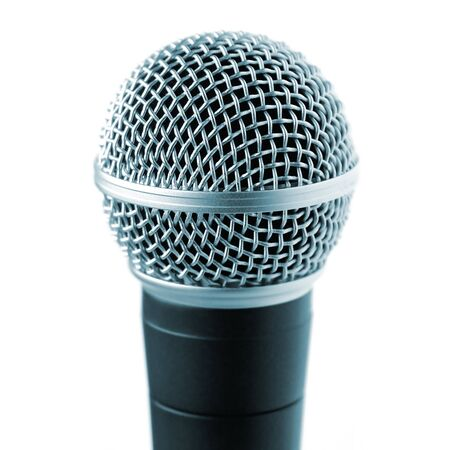 Professional Microphone Isolated Over White