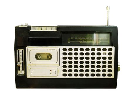 Retro Radio  Tape Recorder (+clipping path for easy background removing if needed)