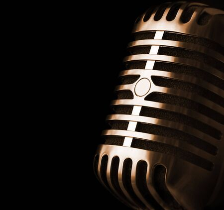 mic: Retro Microphone Coming Out Of Shade