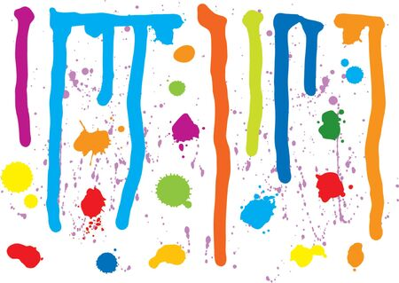 Colorful Paint Splatters (vector or rasterized jpeg) Vector