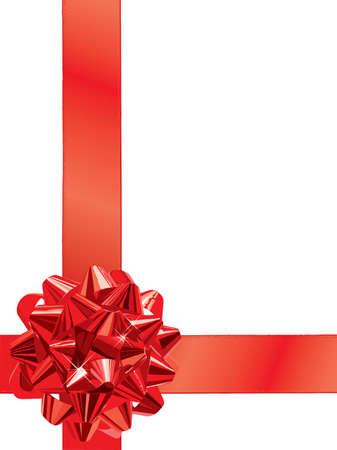 Red Gift Bow (editable vector+jpeg) Illustration