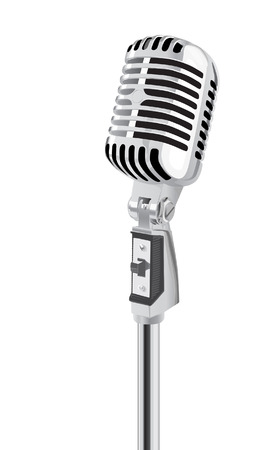 50s: Retro Microphone (editable vector + jpeg) Illustration