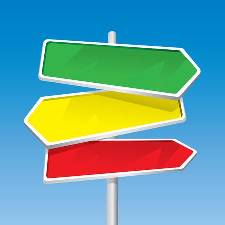 Signpost (editable vector + jpeg)