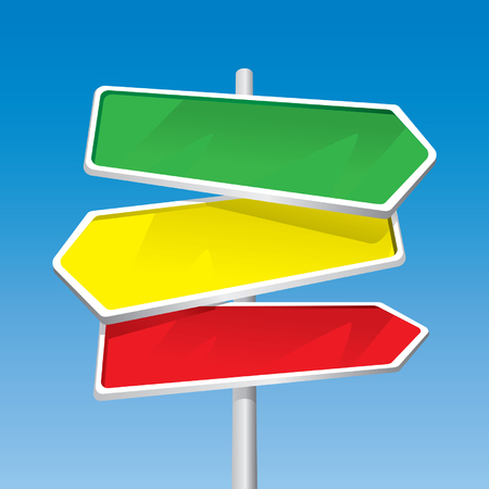 jpeg: Signpost (editable vector + jpeg)