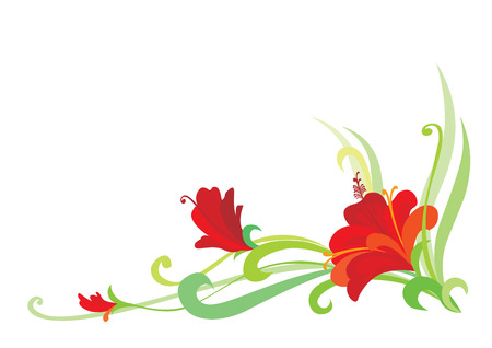 Floral Element (editable vector or jpeg image) Vector