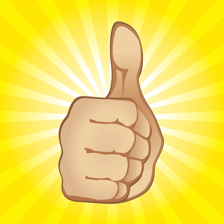 Thumb Up Gesture (editable vector or jpeg image) Illustration