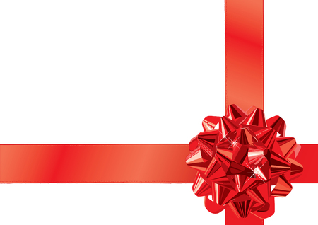 Red Gift Bow  Illustration