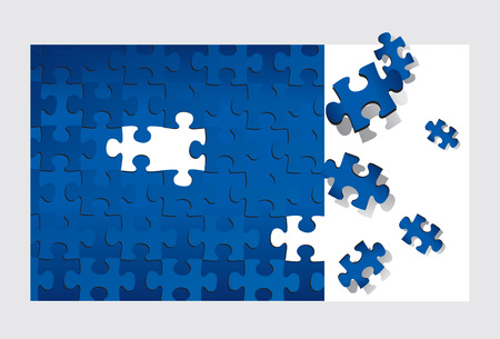 missing piece: Puzzle (editable vector or XXL jpeg image)