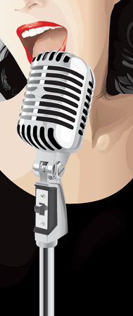 Jazz Singer (editable vector or jpeg image) Vector
