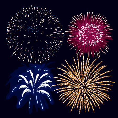 Fireworks (editable vector or jpeg image) Vector
