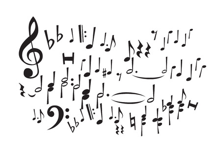 conducting: Music Notes (editable vector or XXL jpeg image)