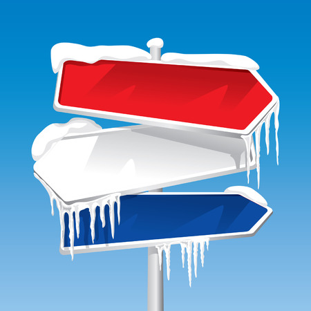 Frozen Signpost (editable vector or XXL jpeg image) Vector